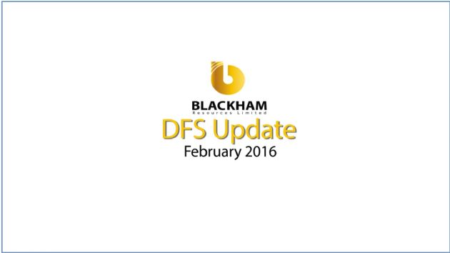 Blackham Resources Limited (ASX:BLK) Matilda Feasibility Confirms 2016 Production